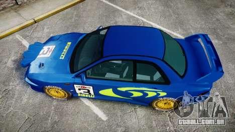 Subaru Impreza WRC 1998 Rally v2.0 Green para GTA 4 vista direita