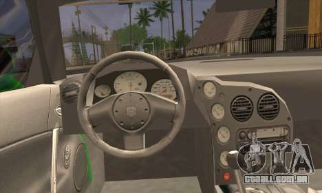 Dodge Viper SRT 10 para GTA San Andreas traseira esquerda vista