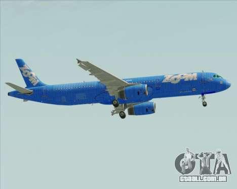 Airbus A321-200 Zoom Airlines para vista lateral GTA San Andreas