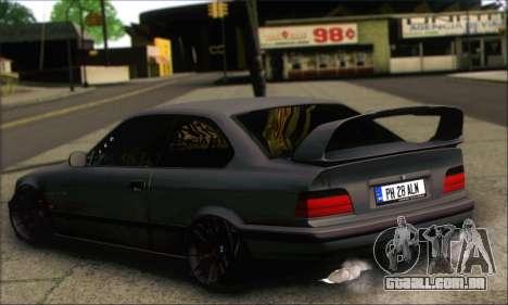 BMW E36 Stanced para GTA San Andreas esquerda vista