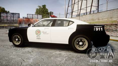 GTA V Bravado Buffalo LS Police [ELS] para GTA 4 esquerda vista