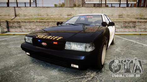 GTA V Vapid Cruiser LSS Black [ELS] Slicktop para GTA 4