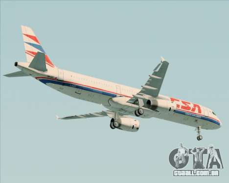Airbus A321-200 CSA Czech Airlines para GTA San Andreas vista traseira