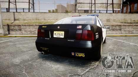 Declasse Merit LSPD [ELS] para GTA 4 traseira esquerda vista
