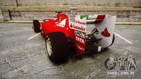 Ferrari 150 Italia Track Testing para GTA 4 traseira esquerda vista