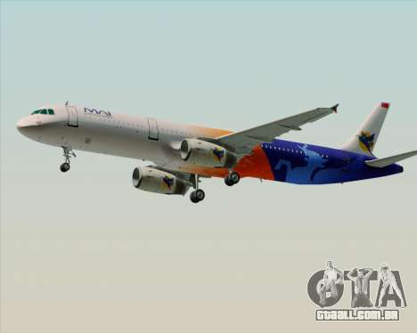 Airbus A321-200 Myanmar Airways International para GTA San Andreas vista interior