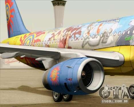 Airbus A321-200 para o motor de GTA San Andreas