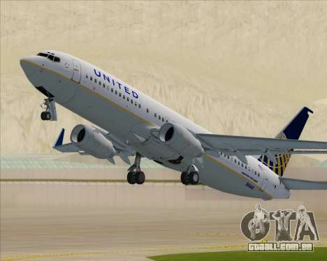 Boeing 737-824 United Airlines para GTA San Andreas