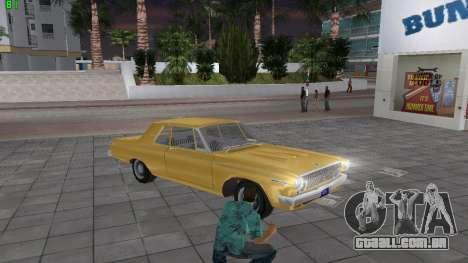Dodge 330 Max Wedge Ramcharger 1963 para GTA Vice City vista direita