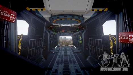 VTOL Warship PJ3 para GTA 4 vista de volta
