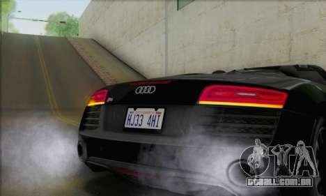 Audi R8 V10 Spyder 2014 para GTA San Andreas vista interior