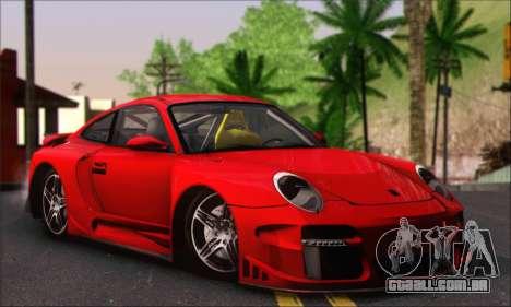 Porsche 997 Turbo Tunable para GTA San Andreas vista interior