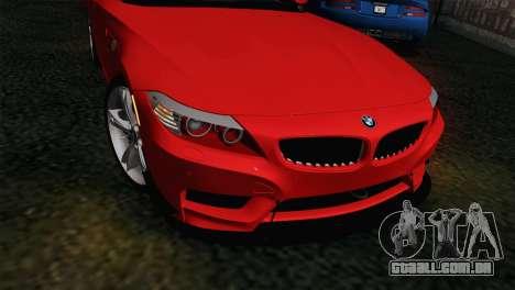 BMW Z4 sDrive28i 2012 Racing para GTA San Andreas vista direita