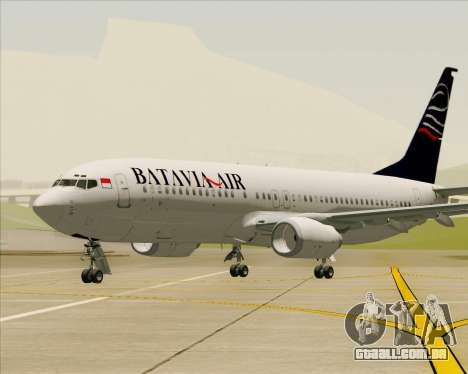 Boeing 737-800 Batavia Air para GTA San Andreas interior