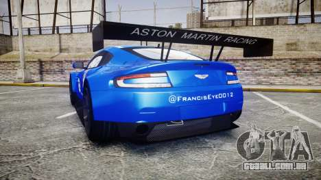 Aston Martin Vantage GTE Nico Yazawa para GTA 4 traseira esquerda vista