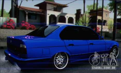 BMW M5 E34 V10 para GTA San Andreas esquerda vista