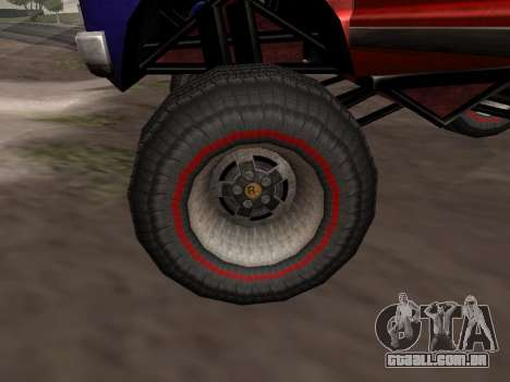 Novas texturas Monstro para GTA San Andreas para GTA San Andreas traseira esquerda vista