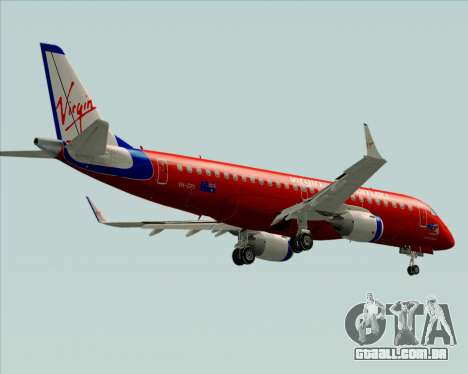 Embraer E-190 Virgin Blue para GTA San Andreas vista superior