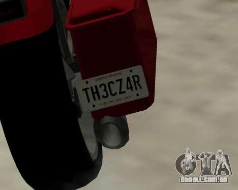 Bagger para GTA San Andreas traseira esquerda vista