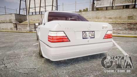 Mercedes-Benz E500 1998 Tuned Wheel White para GTA 4 traseira esquerda vista