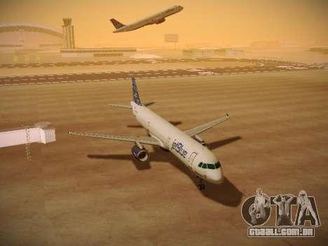 Airbus A321-232 jetBlue Blue Kid in the Town para GTA San Andreas vista traseira