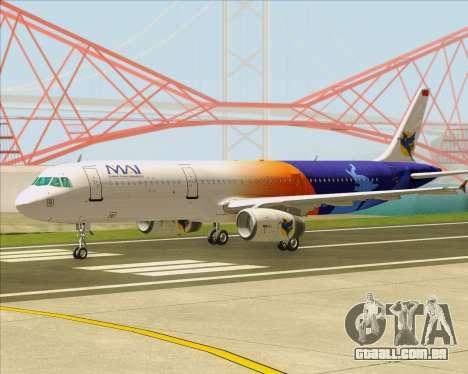 Airbus A321-200 Myanmar Airways International para GTA San Andreas esquerda vista