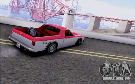 New Picador para GTA San Andreas traseira esquerda vista