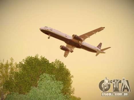 Airbus A321-232 jetBlue Woo-Hoo jetBlue para GTA San Andreas interior