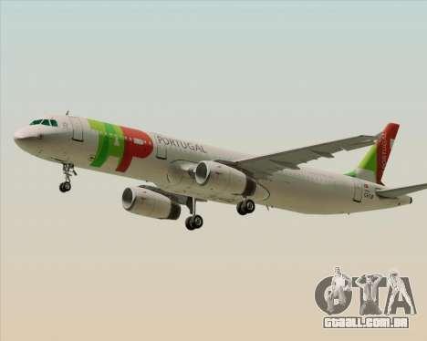 Airbus A321-200 TAP Portugal para GTA San Andreas esquerda vista