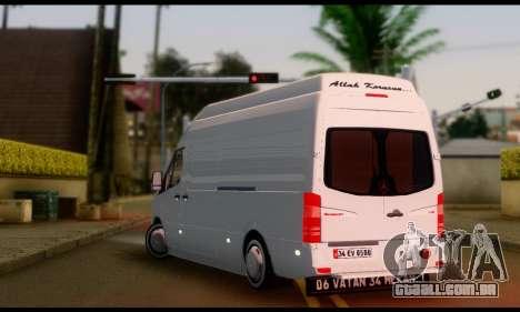 Mercedes-Benz Sprinter Panelvan para GTA San Andreas esquerda vista