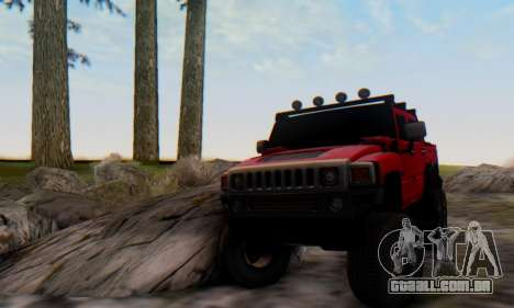 Hummer H6 Sut Pickup para GTA San Andreas vista direita