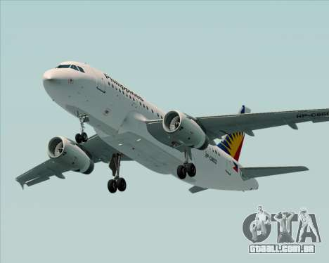 Airbus A319-112 Philippine Airlines para GTA San Andreas interior