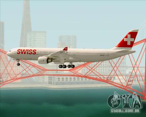 Airbus A330-300X Swiss International Air Lines para as rodas de GTA San Andreas