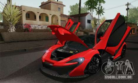 McLaren P1 HQ para GTA San Andreas vista direita