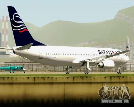 Boeing 737-800 Batavia Air para GTA San Andreas vista superior
