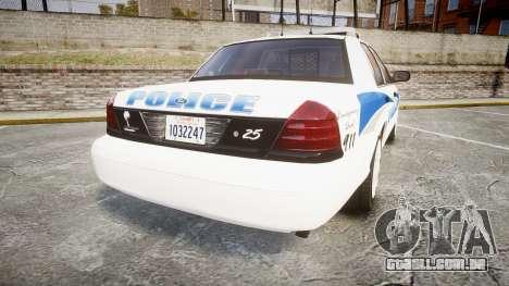 Ford Crown Victoria PS Police [ELS] para GTA 4 traseira esquerda vista