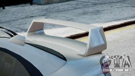 Subaru Impreza WRX STi para GTA 4 traseira esquerda vista