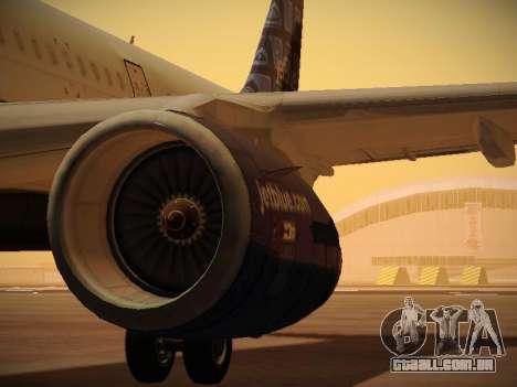 Airbus A321-232 jetBlue Blue Kid in the Town para as rodas de GTA San Andreas