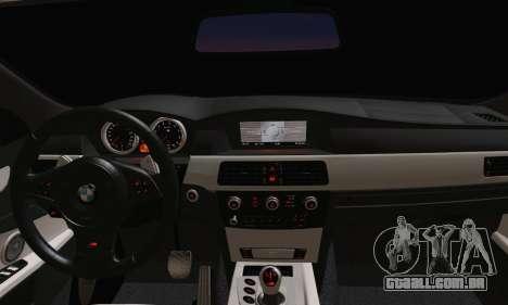 BMW M5 E60 Lumma para GTA San Andreas traseira esquerda vista