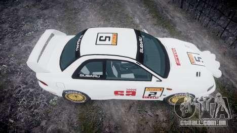 Subaru Impreza WRC 1998 SA Competio v3.0 para GTA 4 vista direita