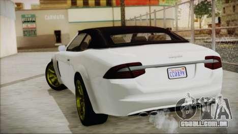 Lampadati Felon GT para GTA San Andreas esquerda vista