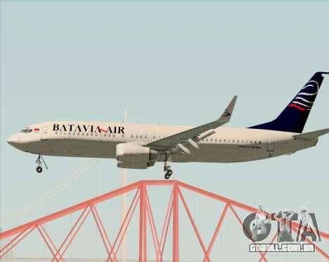 Boeing 737-800 Batavia Air para GTA San Andreas vista direita