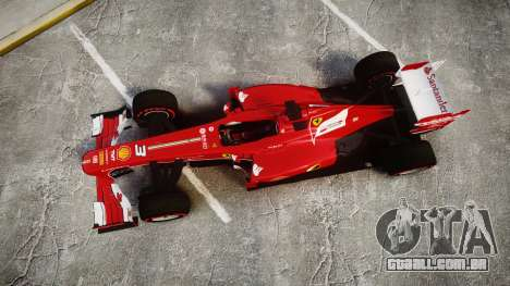 Ferrari F138 v2.0 [RIV] Alonso TSSD para GTA 4 vista direita