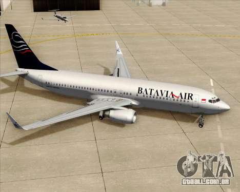 Boeing 737-800 Batavia Air para as rodas de GTA San Andreas