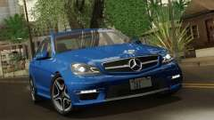 Mercedes-Benz C63 AMG Sedan 2012 para GTA San Andreas