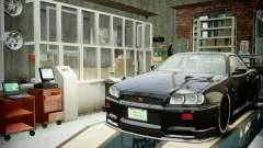 Garagem com novo interior Alcalinas
