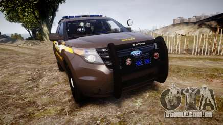 Ford Explorer 2013 Sheriff [ELS] Virginia para GTA 4