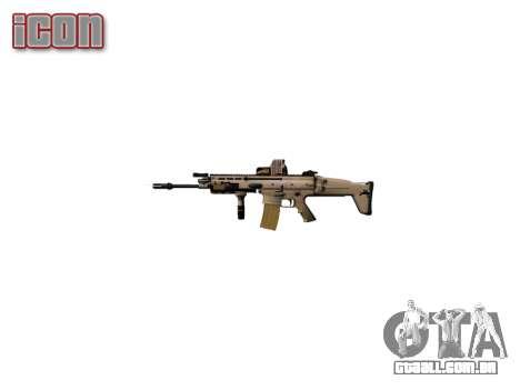 Máquina FN SCAR-L Mc 16 de destino icon2 para GTA 4 por diante tela