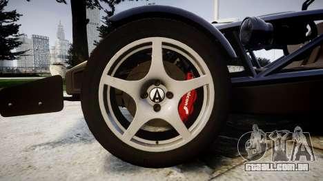 Ariel Atom V8 2010 [RIV] v1.1 FOUR C Motorsport para GTA 4 vista de volta