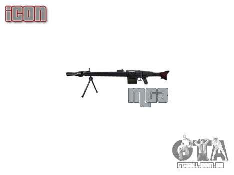 Alemão MG3 metralhadora icon3 para GTA 4 terceira tela